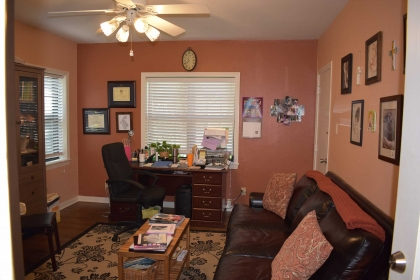 Your midwife will take time to sit and talk with you in her home-like office.